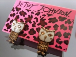 Clearance American Betsey Johnson John Bache owl earrings