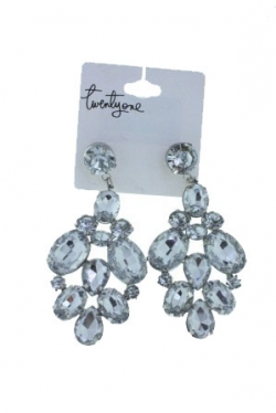 Forever Twenty One Silver Shinning Diamond Earrings
