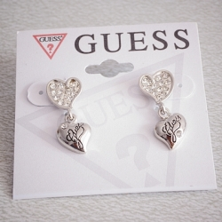 SALES G Exquisite Love Earrings SILVER