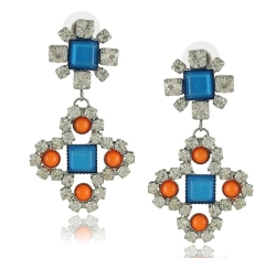 Geometry Diamond Earrings BLUE