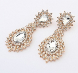 American Fine Droplets Diamond Earrings
