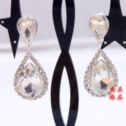 Clearance Bridal Rhinestone Crystal Earrings