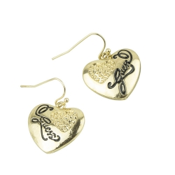 SALES GUSEE Simple Heart Shape Earrings GOLD