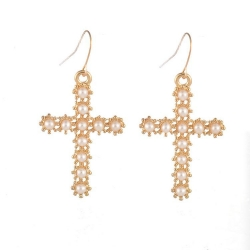Fashion Cross Earrings PEARL