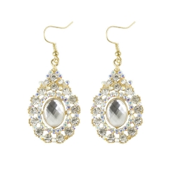 SALES Luxury Alloy Droplets Full Diamond Earrings