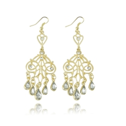 Diamond Droplets Triangle Design Earrings