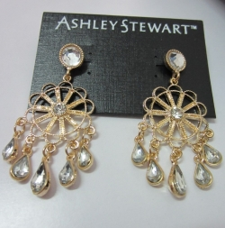 Diamond Droplets Round Design Earrings