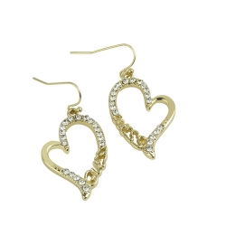 SALES Diamond GUSES Letter Earrings GOLD