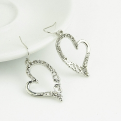 SALES Diamond GUSES Letter Earrings SILVER