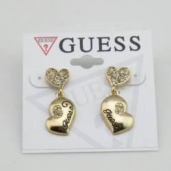 SALES Simple Diamond Heart Earrings GOLD