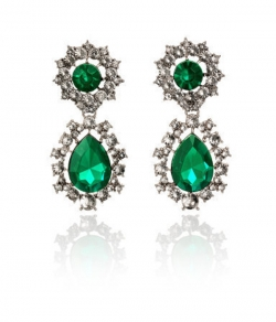 Lauching Unique Luxury Emerald Diamond Earrings