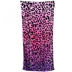 Limited Leopard First Grade Cotton Large Beach Towel 160cm x 76cm