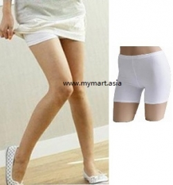 Lady Must Have Ice Silk Safety Mini Pants WHITE