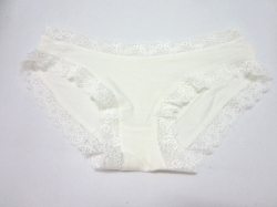 Low Waist Lady Lace Modal Underwear WHITE XS