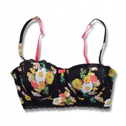 Clearance Unique Europe Floral Sexy Tub Bra Size: 75B, 75C