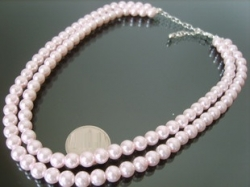 Must have Gorgeous classic double pink pearl necklace
