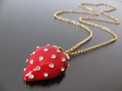 Most Beautiful diamond Vintage strawberry necklace