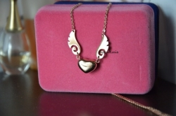 14K Rose Gold Only One Angel Wings Necklace