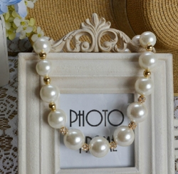 Korea Pearl diamond Short Necklace