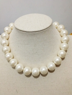 Korea Glass Pearl String Necklace 18mm