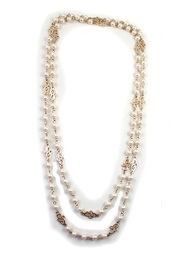 Must Have Fashion Simple Noble Pearl Long Necklace Chain