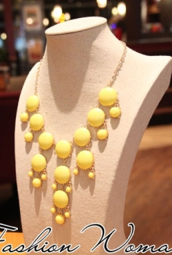 Bubble 18-karat Gold Plated Resin Necklace YELLOW