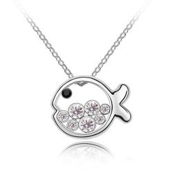 Cute Fish Princess Birthday Gift Necklace