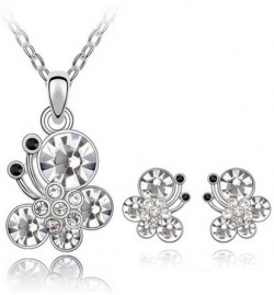 SALES Austria Splendour Butterfly Necklace Earrings Gift Set
