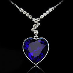 Sales Gem Crystal Titanic Heart Ocean Necklace
