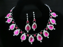 SALES Classic Chloe Rose Red Diamond Bridal Jewel Set