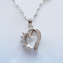 Sales S925 Eternal Love Heart Shape Pendant Only