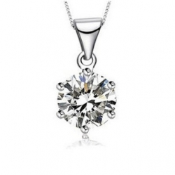 Simple Classic Austria Zircon 925 Sterling Silver Pendant Set