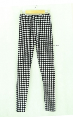 Retro Houndstooth Print Legging