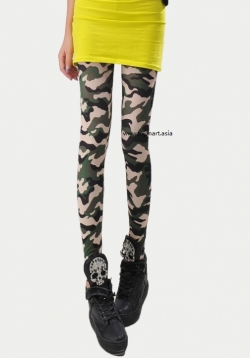 SALES Miss Army Slim Camouflage Legging
