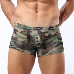 Men Camouflage Ice Silk Underwear Boxer L