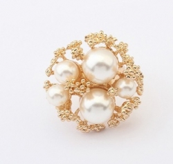 Clearance Classic Luxury Big Pearl Ring