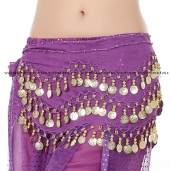 Belly Dance Costume 128 Gold Coins PURPLE