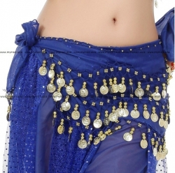 Belly Dance Costume 128 Gold Coins DARKBLUE