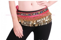 Belly Dance 248Gold Coins Waist Chain Waist Belt ROSE