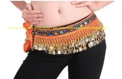 Belly Dance 248Gold Coins Waist Chain Waist Belt OREN