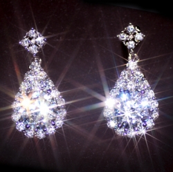 Solpresa Swiss 925 Sterling Silver Austrian Crystal Diamond Earrings Stud