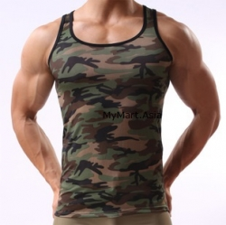 Launching Price Men Ice Silk Army Camouflage Top S,M,L