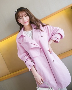 Prelove Korea Fashion Sweet Long-sleeved Pastel Pink Jacket