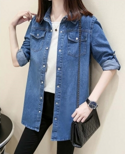 Spring denim jacket long sleeve denim jacket
